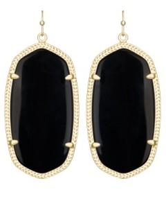 danielle-earring-gold-black